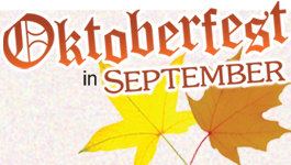 NEXT WEEK…Head to Blue for an Oktoberfest View September 29th & 30th